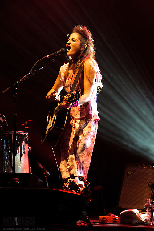 KT Tunstall getting into the spirit of Halloween performing live at Parr Hall, Warrington, 2011-10-31