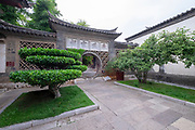 Moon Gate Interior courtyard, Zhu Family house, Jianshui Ancient Town, Yunnan Province, China