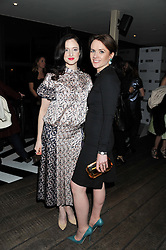 Left to right, ANDREA RISEBOROUGH and EILIDH MACASKILL editor of InStyle at the InStyle Best of British Talent Event in association with Lancôme and Avenue 32 held at The Rooftop Restaurant, Shoreditch House, Ebor Street, London E1 on 30th January 2013.