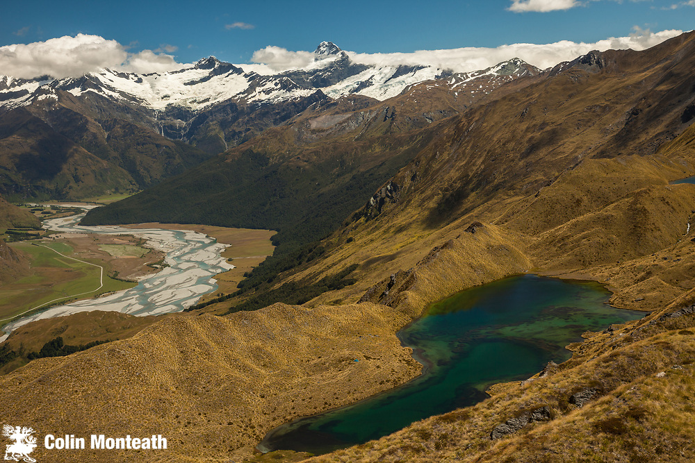 Matukituki valley and Mount Aspiring from Buchanan Peak, near Wanaka, New Zealand