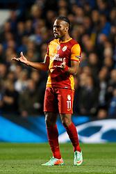 Galatasaray Forward Didier Drogba (CIV) reacts with frustration - Photo mandatory by-line: Rogan Thomson/JMP - 18/03/2014 - SPORT - FOOTBALL - Stamford Bridge, London - Chelsea v Galatasaray - UEFA Champions League Round of 16 Second leg.