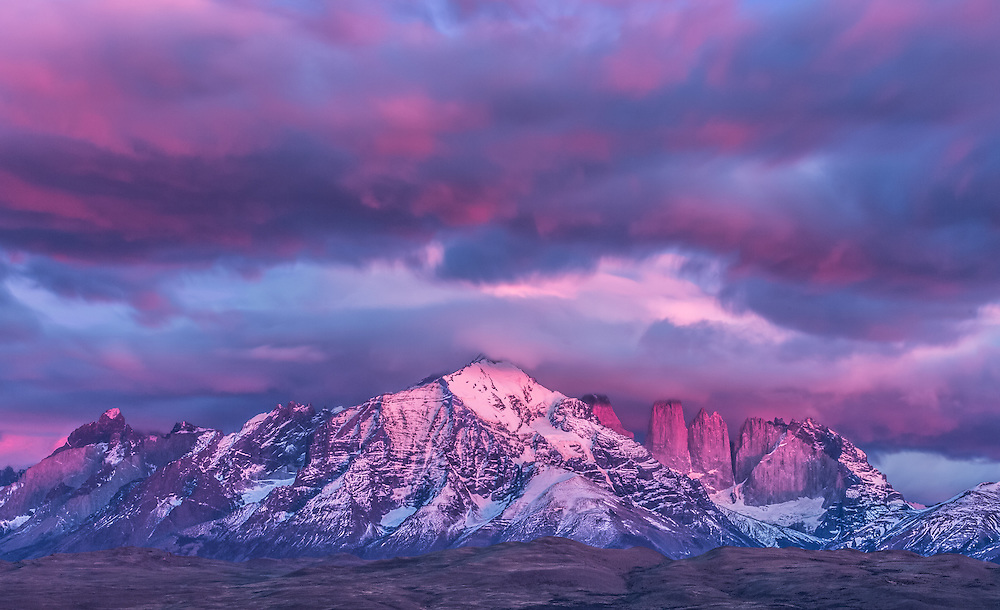 It was my last day in Patagonia and chance gave me one final heartstopping and heartbreaking sunrise I'll never forget. <br /> Torres del Paine National Park, Chile.
