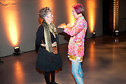 FRAN COTTELL; SILVIA ZIRANEK, Ai Weiwei Unilever series opening. Tate Modern. 11 October 2010. -DO NOT ARCHIVE-© Copyright Photograph by Dafydd Jones. 248 Clapham Rd. London SW9 0PZ. Tel 0207 820 0771. www.dafjones.com.