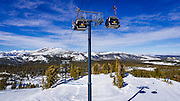 The gondola at Mammoth Mountain Ski Area, Mammoth Lakes, California USA