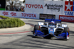 April 13, 2018 - Long Beach, California, United States of America - April 13, 2018 - Long Beach, California, USA: Takuma Sato (30) takes to the track to practice for the Toyota Grand Prix of Long Beach at Streets of Long Beach in Long Beach, California. (Credit Image: © Justin R. Noe Asp Inc/ASP via ZUMA Wire)