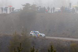 17.01.2014, Sisteron, FRA, FIA, WRC, Monte Carlo, 2. Tag, im Bild OGIER Sebastien / INGRASSIA Julien ( VOLKSWAGEN MOTORSPORT (DEU) / VOLKSWAGEN POLO R ) im dichten Nebel during day two of FIA Rallye Monte Carlo held near Monte Carlo, France on 2014/01/17. EXPA Pictures © 2014, PhotoCredit: EXPA/ Eibner-Pressefoto/ Neis<br /> <br /> *****ATTENTION - OUT of GER*****