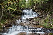 64797-00612 Wagner Falls in fall, Alger County, MI