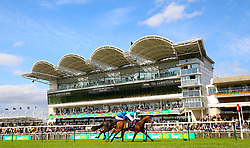 Purser ridden by jockey Frankie Dettori (right) beats Symbolization ridden by jockey William Buick in the British EBF bet365 Conditions Stakes during day one of The Bet365 Craven Meeting at Newmarket Racecourse, Newmarket.