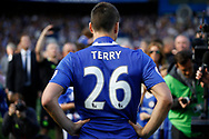 \the last time Chelsea Defender John Terry (26) will wear his Chelsea FC shirt during the Premier League match between Chelsea and Sunderland at Stamford Bridge, London, England on 21 May 2017. Photo by Andy Walter.
