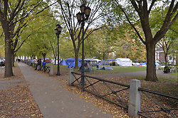 #OccupyNewHaven on the Historic New Haven Green. West Green by Yale on 3 November 2011