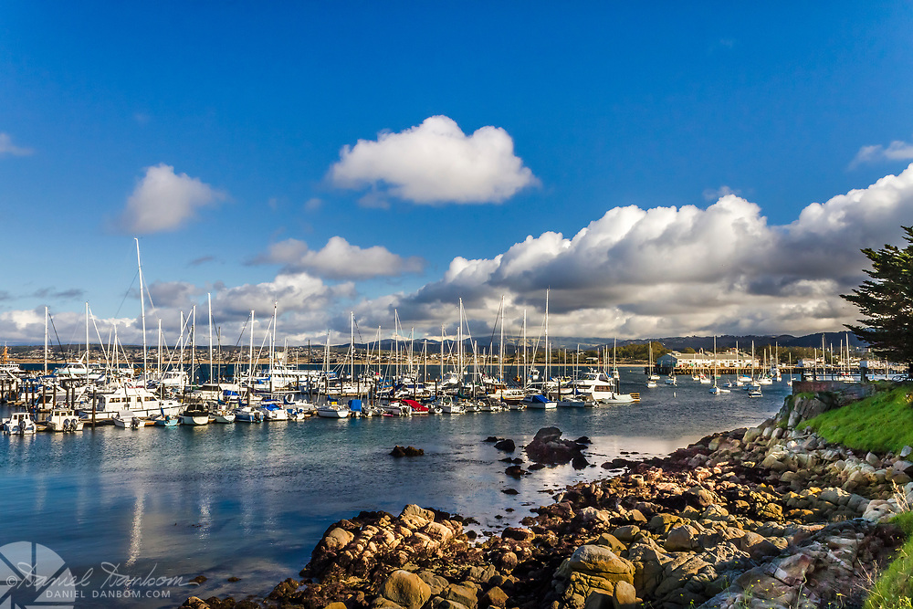 Monterey Harbor and Marina area, from the Recreation Trail, Monterey, California