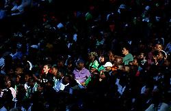 Nigeria's fans in the sunshine