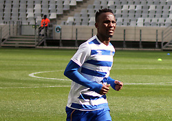 Cape Town City midfielder Teko Modise warming up against Polokwane City in an MTN8 quarter-final match at the Cape Town Stadium on August 12, 2017 in Cape Town, South Africa.
