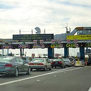 A general view of the toll plaza for the Bronx Whitestone Bridge in New York City on Sunday, September 27, 2015. (Alex Menendez via AP)