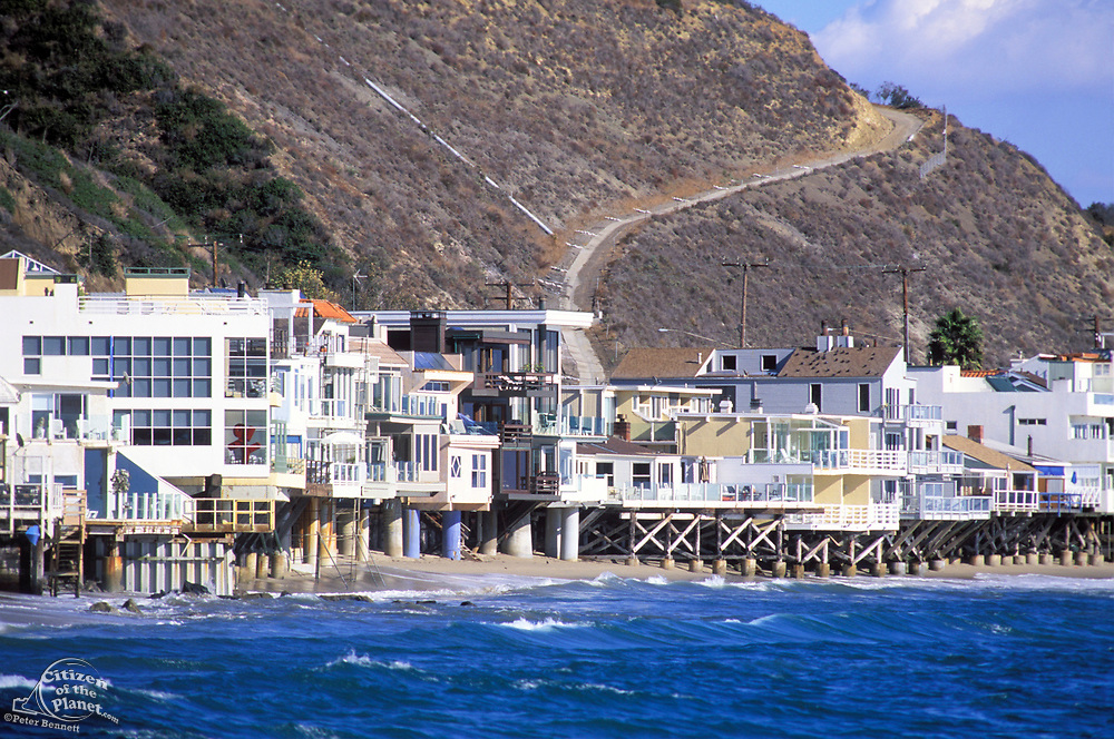 Malibu Coastline Houses, Los Angeles County, California (LA)
