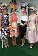 30/07/2015 report free : Winners Announced in Kilkenny Best Dressed Lady, Kilkenny Best Irish Design & Kilkenny Best Hat Competition at Galway Races Ladies Day <br /> <br /> Finalists were Lynda Hanratty, Armagh, Ruth Thomas, Galway Niamh Killilea, Maree Oranmore and Isabel O'Neill, Westmeath. Photo:Andrew Downes, xposure