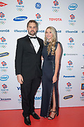 English former competitive swimmer Liam Tancock with English international field hockey player Georgie Twigg MBE during Team GB's annual ball at Old Billingsgate on the 21st November 2019 in London in the United Kingdom.
