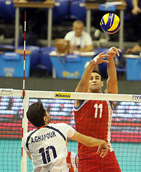 September 12, 2018 - Varna, Bulgaria - from left Amir GHAFOUR (Iran), Maurice TORRES (Puerto Rico), .FIVB Volleyball Men's World Championship 2018, pool D, Iran vs Puerto Rico,. Palace of Culture and Sport, Varna/Bulgaria, .the teams of Finland, Cuba, Puerto Rico, Poland, Iran and co-host Bulgaria are playing in pool D in the preliminary round. (Credit Image: © Wolfgang Fehrmann/ZUMA Wire)