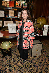VIVIENNE BECKER at a party to celebrate the publication of Cartier's Panthere book at Maison Assouline, Picadilly, London on 7th September 2015