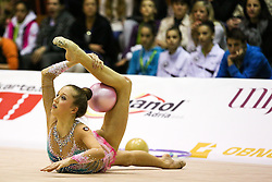 Aja Jerman of Slovenia competes during 28th MTM - International tournament in rhythmic gymnastics Ljubljana, on April 4, 2015 in Arena Krim, Ljubljana, Slovenia. Photo by Matic Klansek Velej / Sportida