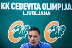 Davor Uzbinec general manager of KK Cedevita Olimpija at press conference of KK Cedevita Olimpija in Arena Stozice on August 7th, 2019, in Arena Stozice, Ljubljana, Slovenia.Photo by Grega Valancic / Sportida