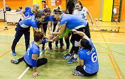Players of Slovenia during friendly Sitting Volleyball match between National teams of Slovenia and China, on October 22, 2017 in Sempeter pri Zalcu, Slovenia. (Photo by Vid Ponikvar / Sportida)