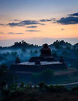 MRAUK U, MYANMAR - CIRCA DECEMBER 2017: Htukkanthein Temple Stupa at Sunset In Mrauk U, Rakhine State.