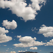 Rolling hills and sky near Rancho El Pinito in the Sierra San Luis, Sonora Mexico