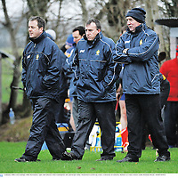 6 January 2008; Clare manager Mike McNamara, right, with selectors Alan Cunningham, left, and Fergie Tuohy. Waterford Crystal Cup, Clare v University of Limerick, Meelick, Co. Clare. Picture credit; Brendan Moran / SPORTSFILE *** Local Caption ***