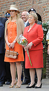 State Visit of the presidentof Chili , Michelle Bachelet to the Netherlands.<br /> <br /> On the photo Presedent of Chili, Michelle Bachelet,and Princes Maxima arrive At the Castle of Doorwerth to have a lunch