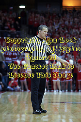 13 February 2013:  Referee Rick Hartzell during an NCAA Missouri Valley Conference mens basketball game where the Bradley Braves were defeated by Illinois State Redbirds 79-59 in Redbird Arena, Normal IL