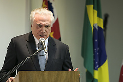 August 7, 2017 - Sao Paulo, Sao Paulo, Brazil - Aug, 2017 - Sao Paulo, Sao Paulo, Brazil - President MICHEL TEMER made his first visit to the city of Sao Paulo after filing a lawsuit for the crime of corruption, filed by decision of the Chamber of Deputies, last week. TEMER participated in the signing of an agreement between the federation and municipality that involves the CAMPO DE MARTE airport. (Credit Image: © Marcelo Chello/CJPress via ZUMA Wire)