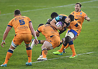 Rugby Union - 2020 / 2021  European Rugby Challenge Cup - Semi-final - Bath vs Montpellier - Recreation Ground<br /> <br /> Bath Rugby's Orlando Bailey in action during this evening's game.<br /> <br /> COLORSPORT/ASHLEY WESTERN
