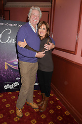 Actress LINDA GRAY and MATTHEW KELLY at the opening night of Cinderella at The New Wimbledon Theatre, 93 The Broadway, London SW19 1QG on 9th December 2014.