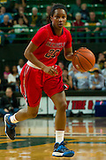 WACO, TX - DECEMBER 18: Amber Singletary #20 of the Mississippi Lady Rebels brings the ball up court against the Baylor Bears on December 18 at the Ferrell Center in Waco, Texas.  (Photo by Cooper Neill) *** Local Caption *** Amber Singletary