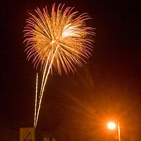 Jackson, Wyoming.  Fourth of July fireworks.