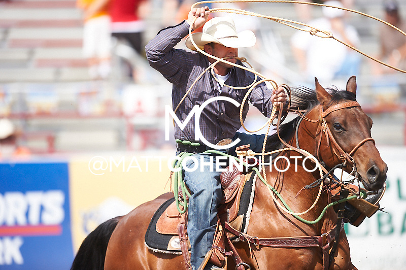 Tie-down roper Jake Hannum of Plain City, UT competes at the Redding Rodeo in Redding, CA.<br /> <br /> <br /> UNEDITED LOW-RES PREVIEW<br /> <br /> <br /> File shown may be an unedited low resolution version used as a proof only. All prints are 100% guaranteed for quality. Sizes 8x10+ come with a version for personal social media. I am currently not selling downloads for commercial/brand use.