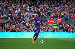 March 18, 2018 - Barcelona, Spain - Ousmane Dembele during the match between FC Barcelona and Athletic Club, played at the Camp Nou Stadium on 18th March 2018 in Barcelona, Spain. (Credit Image: © Joan Valls/NurPhoto via ZUMA Press)