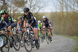 Claudia Lichtenberg (Wiggle High5) at Strade Bianche - Elite Women. A 127 km road race on March 4th 2017, starting and finishing in Siena, Italy. (Photo by Sean Robinson/Velofocus)