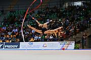 Eleonora Romanova atleta della Società Terranuova durante la seconda prova del Campionato Italiano di Ginnastica Ritmica.<br /> La gara si è svolta a Desio il 31 ottobre 2015.<br /> Eleonora è una ginnasta  è una ginnasta russa di origini ucraine nata nel 1998.