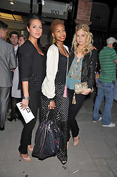Left to right, SASKIA BOXFORD, TOLULA ADEYMI and MARISSA MONTGOMERY at a party to launch the new Belvedere Black Raspberry Maceration held at the Belvedere Black Raspberry Pop-up Store, 100 Mount Street, London W1 on 6th May 2009.