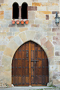 Traditional doorway in Santillana del Mar, Cantabria, Northern Spain