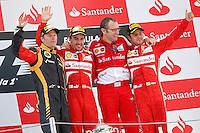 MOTORSPORT - F1 2013 - GRAND PRIX OF SPAIN / GRAND PRIX D'ESPAGNE - BARCELONA (ESP) - 10 TO 12/05/2013 - PHOTO : JEAN MICHEL LE MEUR / DPPI - RAIKKONEN KIMI (FIN) - LOTUS E21 RENAULT- AMBIANCE PORTRAIT - ALONSO FERNANDO (SPA) - FERRARI F138 - AMBIANCE PORTRAIT - DOMENICALI STEFANO (ITA) - SCUDERIA FERRARI TEAM PRINCIPAL - DIRECTEUR - AMBIANCE PORTRAIT : MASSA FELIPE (BRA) - FERRARI F138 - AMBIANCE PORTRAIT / PODIUM