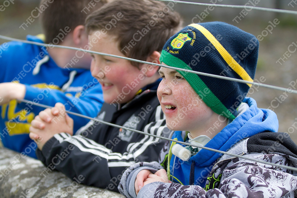 Supporter Conor Keating shouting for him Team at the Shannon Gaels V St Josephs Doora Barefield Championship Final on Sunday