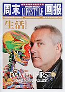 Damien Hirst portrait shoot commissioned by Callum Sutton PR, 2010.