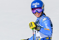 15.02.2021, Cortina, ITA, FIS Weltmeisterschaften Ski Alpin, Alpine Kombination, Damen, Super G, im Bild Elena Curtoni (ITA) // Elena Curtoni of Italy reacts after the Super G competition for the women's alpine combined of FIS Alpine Ski World Championships 2021 in Cortina, Italy on 2021/02/15. EXPA Pictures © 2021, PhotoCredit: EXPA/ Erich Spiess