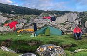 Happy camper, Port an t-Salainn, Point of Knap, Argyll & Bute, Scotland.