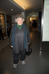 Actress Miriam Margolyes at the opening reception of the new Jewish Museum, Raymond Burton House, 129-131 Albert Street, London NW1 on 16th March 2010.