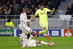 February 19, 2019 - Lyon, France - Luis Suarez during the UEFA Champions League round of 16 first leg football match between Lyon (OL) and FC Barcelona on February 19, 2019, at the Groupama Stadium in Decines-Charpieu, central-eastern France. (Credit Image: © Mehdi Taamallah/NurPhoto via ZUMA Press)