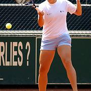 NLD/Hilversum/20050528 - Eredivisie tennis 2005, Melkhuisje - Groenekan, Brenda Schultz - Kveta Peschke, Kveta Peschke